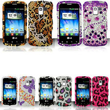 BLING Hard SnapOn Protector Phone Cover Case G-1 for LG OPTIMUS Q ZIP L75C L55C