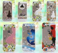 Ultra Thin Disney Princess Transparent TPU Soft Case For iPhone 5/5S/6/6 Plus