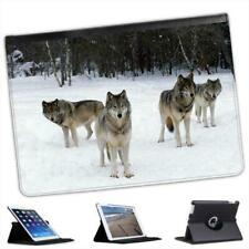 Wolves Folio Wallet Leather Case For iPad Air & Air 2
