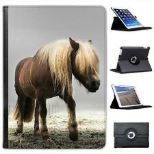 Long Haired Horse Walking Through Misty Field Leather Case For iPad Air & Air 2