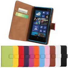 Genuine Leather Wallet Stand Case Cover Protector Skin FOR NOKIA Lumia 920 N920