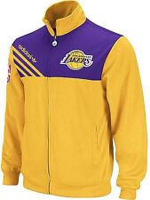 $90 ADIDAS LOS ANGELES LAKERS TRACK JACKET NBA BASKETBALL 5771A IN L XL 2XL NEW