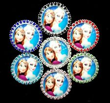 "wholesale Disney frozen Elsa Flattened 1"" button for DIY badge Ribbon Hair Bow"