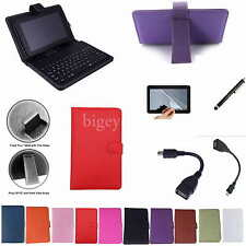 "Colorful Keyboard PU Case+Film+Pen For 7"" HP Slate 7 Extreme/Slate 7 HD Tablet"