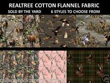 REALTREE COTTON FLANNEL FABRIC-REALTREE FLANNEL FABRIC-CHOOSE FROM 6 DESIGNS-