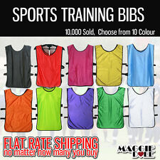 Sports Training Bibs Vests Top Basketball netball cricket soccer football rugby