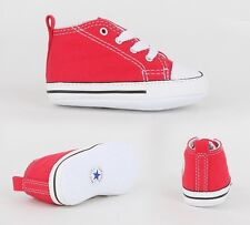 Crib Converse First Star Red Hi Trainers