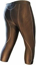MS Sports Mens Sports Base Layer Compression Long Short 3/4 Length Tights Pants