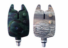T&T Baits Camo Bite Alarms with Blue LED indicator Tone and Volume