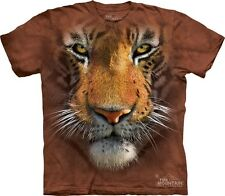 Tiger Face Kids T-Shirt from The Mountain. Jungle Zoo Childrens Sizes NEW