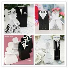 Wholesale Tuxedo Dress Groom Bridal Wedding Party Favor Bags Paper Candy Boxes