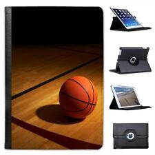 Basketball on Wooden Court Folio Leather Case For iPad Mini & Retina