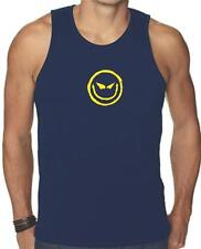 NEW FOR Men's Printed EVILE SMILEY FACE FUNNY MMA HAPPY SMILE GRAPHIC Tank Top