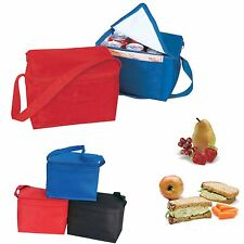 INSULATED 6 PACK COOLER PICNIC BEER DRINK WATER LUNCH BAG BAGS BOX 9 X 6-1/4""