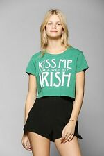 """Truly Madly Deeply """"Kiss Me I'm A Wee Bit Irish"""" Cropped Tee urban outfitters"""