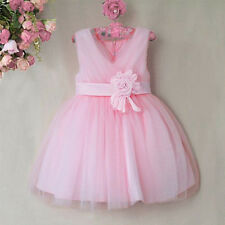NEW Kid Girls Princess Flower V-neck Bridesmaid/Party/Christmas Party/Prom Dress
