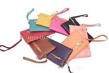 Small Zipper Clutch Wristlet handbag Key mini Wallet Coins Purse Pouch