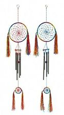 Dream Catcher Wind Chime Mobile Beads Tassels Red or Blue 82 cm Hippy Chic New