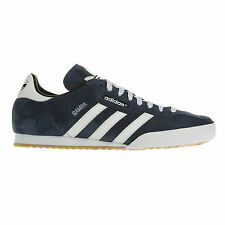 ADIDAS ORIGINALS MENS SAMBA SUPER SUEDE SIZE 7 8 9 10 11 12 BLUE/WHITE NEW