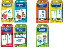 School Zone Flash Cards Choose Alphabet, Math, or Phonics