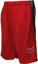 Washington Capitals NHL Majestic Embroidered Logo Synthetic Shorts Red Big Sizes