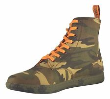 Dr Martens Alfie Green Camo Canvas Summer Ankle Boots