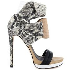 MIA LIMITED EDITION ROCCO GRAY MULTI SNAKE HIGH HEEL PLATFORM UNQIUE SEXY SHOES