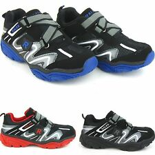 Boy's Kid's Athletic Running Walking Sneakers Shoes Velcro Casual Leather