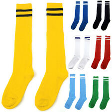 ❤Cheap Sale❤Unisex Knee High Striped Tube Socks Sport Football Soccer Stockings