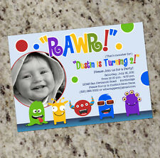 Little Monster - Monster Themed Birthday Party Invitations