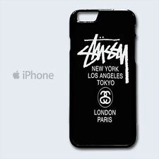 Stussy World Tour NY LA Tokyo London Paris iPhone 4 4S 5 5S 5C 6 6 Plus Case