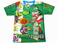 Plants VS Zombies Boy Kid Polyester T-Shirt #220 Green Size XS-XXL age 2-12