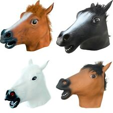 Multi-color Horse Head Latex Mask Halloween Party Cosplay Animal Costume Prop
