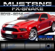 "2013 - 2014 Ford Mustang 18"" & 21"" Snake Style Super Stripes 3M Quality Stripes"