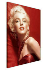 ICONIC MARILYN MONROE GLAMOUR RED CANVAS WALL ART PICTURES MOVIE STARS PRINTS
