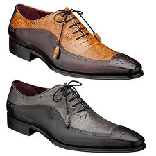 Mezlan Men's Lasalle Gorgeous New Exotic Bal Lace-Up Spectator  - New In Box