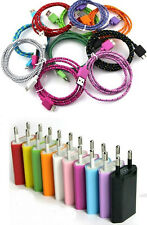 3ft/6ft/10ft Durable Braid USB Cord + Euro Plug for Samsung Galaxy Note3 S5