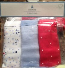 NWT Baby GAP 3 Pack Underwear Size 2/3 or 4/5 *Great for Potty Training*