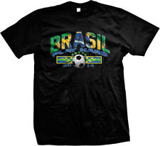 Brasil Play Hard 2014 Brazil Soccer Ball Football Futebol Futbol Mens T-shirt