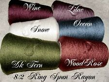 New *7 Color Choice*Silky Rich~Ring-Spun~ 8/2 Rayon Cone Yarn Knit Weave Crochet