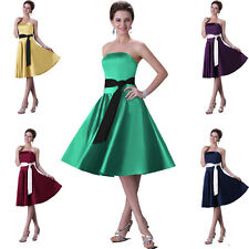 Brautjungfernkleider Hochzeits Proms Cocktail Abendkleid Party Formal Ballkleid