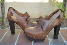 UGG Women's Celestina Chestnut Leather High Heel Ankle Boots Size US 7.5 UK 6
