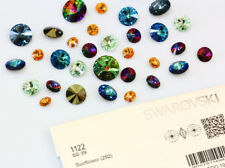 Genuine SWAROVSKI 1122 Rivoli Round Stone Foiled Glue Fix - Many Colors & Sizes