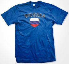 Russia Russian Россия Flag Crest Soccer Football Men's T-shirt