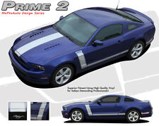 Retro Boss 302 Style Center Hood Side Graphics Decal Stripes 2013-2014 Mustang