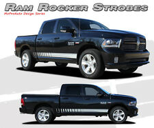 Lower Rocker Panel Strobe Stripes 3M Vinyl Graphic Decals 2008-2014 Dodge Ram