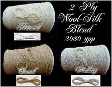 Handsome Rich ~Wool Silk~ Blend Cone Yarn *3 Colour Choice Knit Crochet Weave
