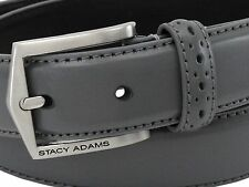 STACY ADAMS MEN'S PINSEAL LEATHER CORDOVAN BELTS,GREY, NEW WITH TAGS!!