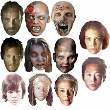 OFFICIAL THE WALKING DEAD CARD FACE MASKS - 6 TO CHOOSE FROM - FULLY LICENCED