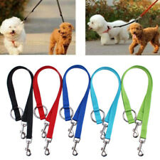 Double Dog Leash lead 2 two dogs one lead coupler walk pet harness nylon*